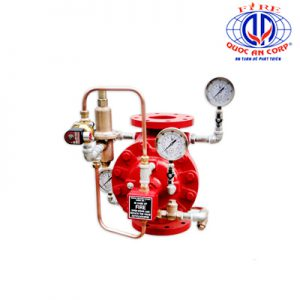 Deluge Valve with Pressure Reducing Pilot Trim