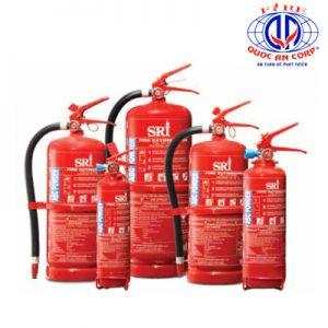 Các loại bình chữa cháy mã MS1539 (SRI)