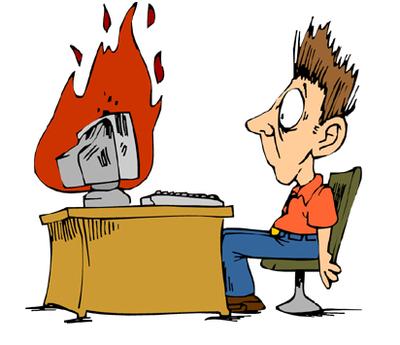 cháy máy tính